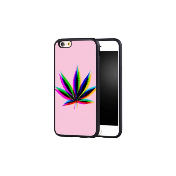 3D Pink Weed Phone Case