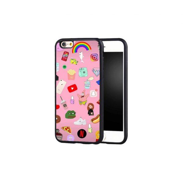 Pink meme pop culture phone case