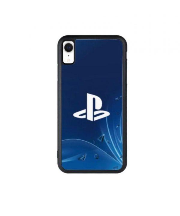 White PlayStation logo phone case